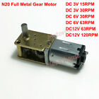 N20 Gear Motor with Wire Reducer 1.9mm//3mm Shaft 4WD For DIY Car Robot NEW